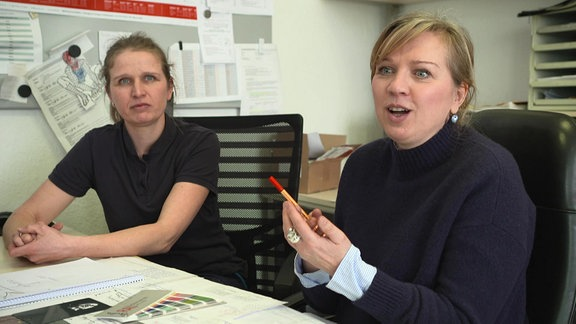 Die Schwestern Kathrin Schulze und Kristin Wießel