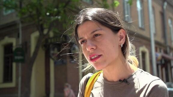 AnaSubeliani (31), Queer-Aktivistinaus Tiflis.