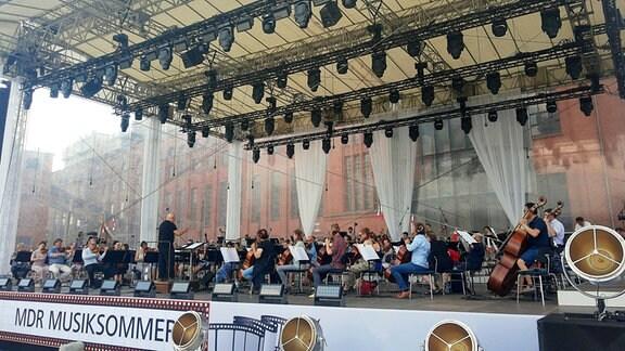 Orchesterprobe zum Eröffnungskonzert