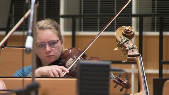 Eine Violinistin