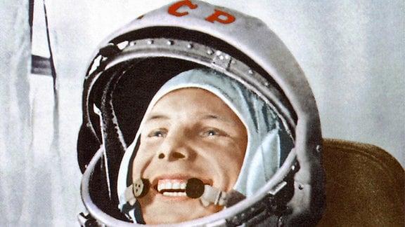 Gagarin vor seinem historischen Flug im April 1961.
