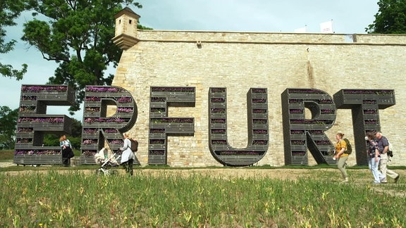 Die BUGA in Erfurt.