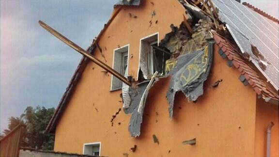 Schäden nach einem Tornado.