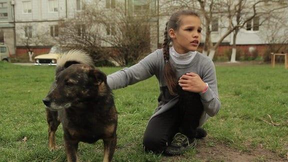 Lisa mit Hund