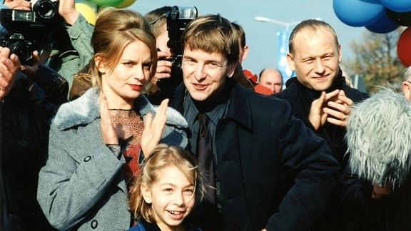 """Jörg Panknin, Peter Sodann und Bernd Michael Lade im Tatort """"Todesangst"""" (1999)"""