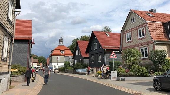 Eine Straße in Breitenbach