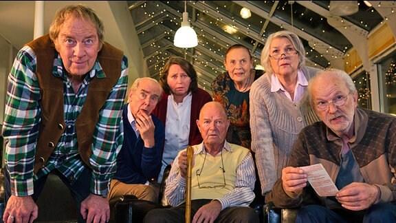 Jutta Wachowiak als Karin, Dieter Mann als Günter, Michael Gwisdek als Conrad, Ulrich Pleitgen als Jakob und  als Otto