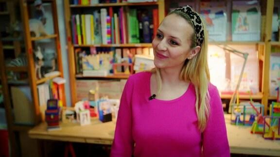 Moderatorin Henriette Fee Grützner