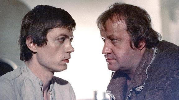 Gevatter Tod. 1980. Jan Spitzer (Jörg) (li), Dieter Franke (Gevatter Tod) (re)