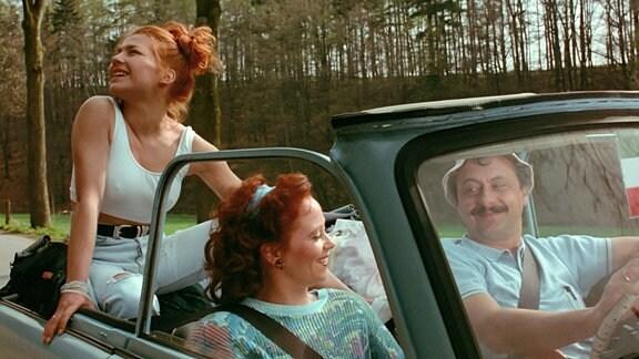 Filmszene - Eine Familie im Trabant
