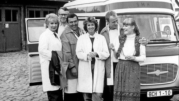 Ingeborg Krabbe (Schwester Renate), Otmar Richter (DRK-Einsatzleiter Walter Bonnesch), Günter Schubert (SMH-Fahrer Axel Dünnebier), Uta Schorn (Dr. Uta Federau), Peter Cwielag (Fahrer Bert Holländer), Anne Kasprzik (Disponentin Carola)