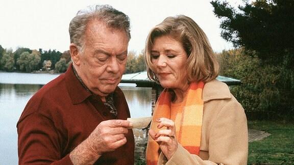 Frank Haller (Klausjürgen Wussow) und Regina Köhler (Jutta Speidel)