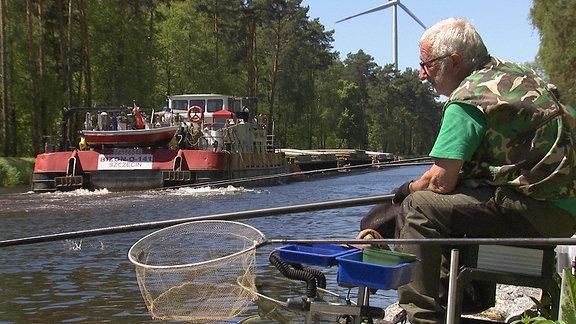 Dietrich beim Hegefischen