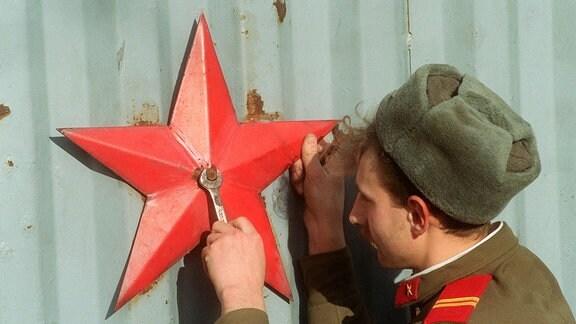 Soldat der Sowjetunion.