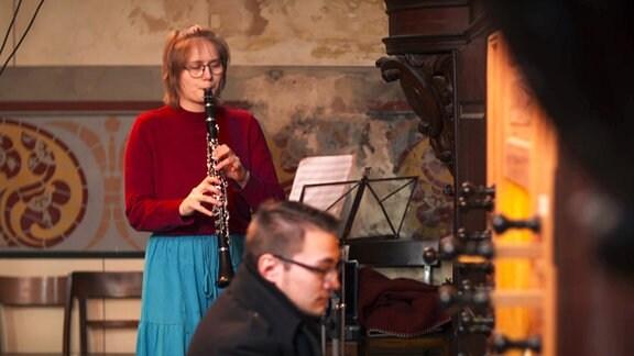 Charlotte Rieger an der Klarinette