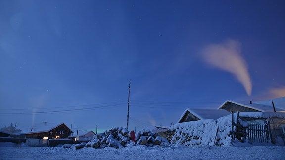 Nacht in Sibirien