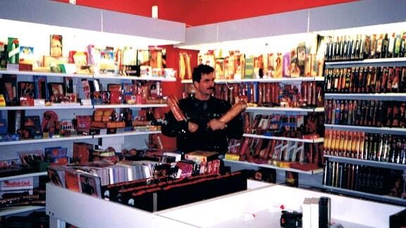 Innenraum eines Sex-Shops