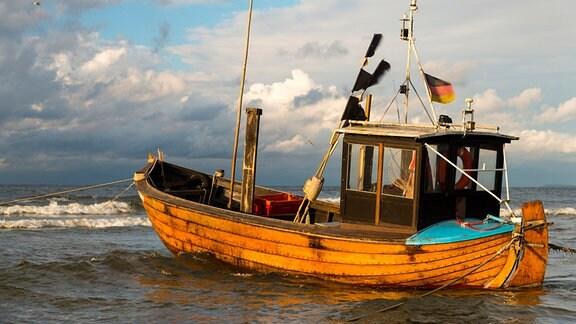 Fischerboot in der Ostsee