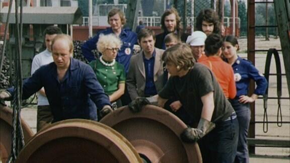 Mitarbeiter des Waggonbau Ammendorf