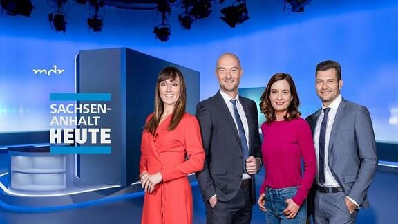 MDR SACHSEN-ANHALT HEUTE - mit den Moderatoren Susi Brandt, Sascha Fröhlich, Sandra Berndt und Stefan Bernschein