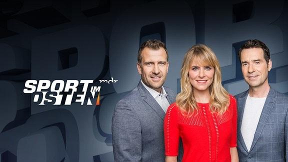 Sport im Osten - mit den Moderatoren René Kindermann, Stephanie Müller-Spirra und Tom Scheunemann