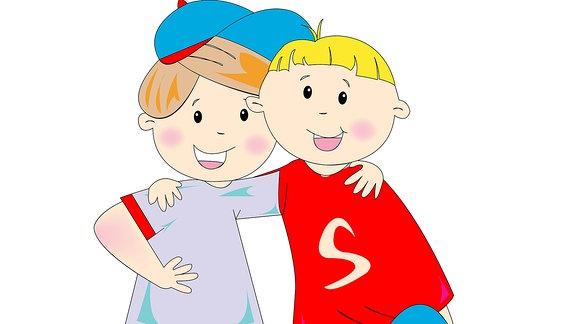 Illustration zweier Freunde
