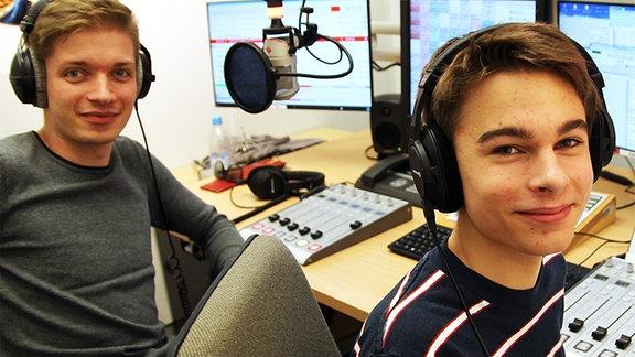 Chris und Ben im Studio