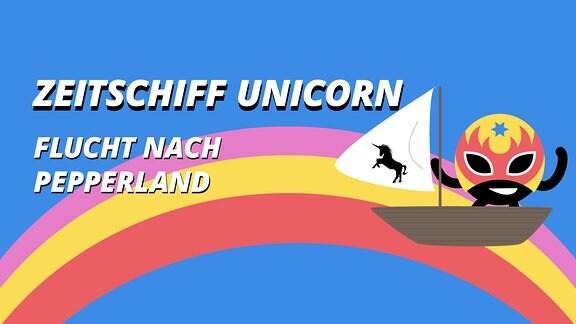 Hörspiel Zeitschiff Unicorn Flucht nach PepperlandTeaser
