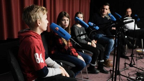 TWEENS Schultour in Meiningen, Podcast Aufzeichnung