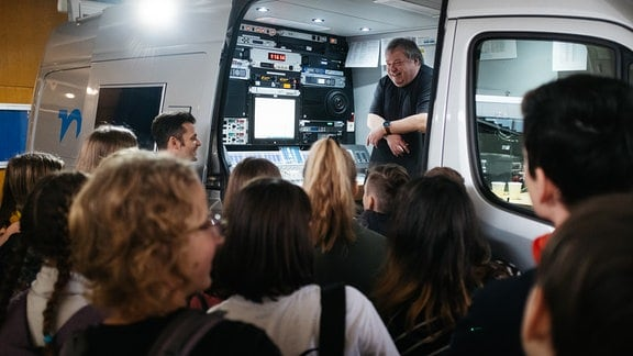 MDR TWEENS Schultour in Wurzen, Ü-Wagen