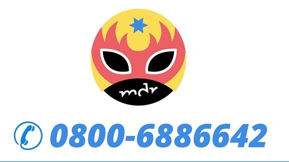 Das MDR TWEENS Logo mit der Telefonnummer