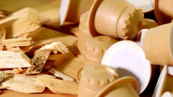 Kaffeetabs aus Holz
