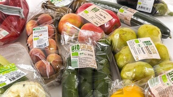 Verpacktes Obst und Gemüse