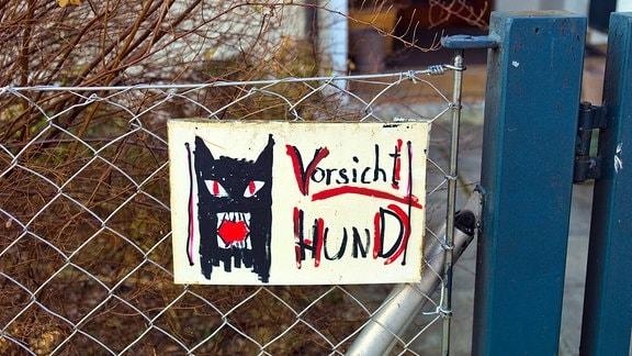 """Warnschild """"Vorsicht Hund"""""""