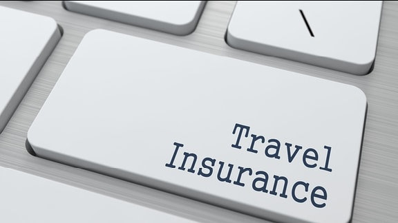 Computertastatur mit Taste Travel  Insurance