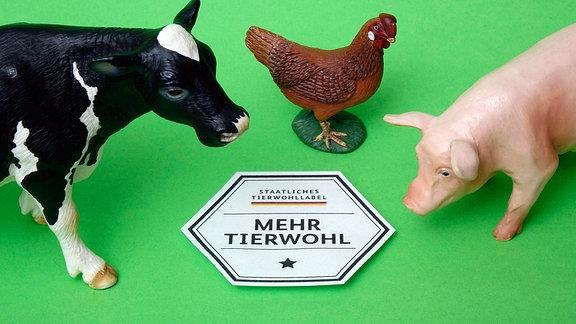 Illustration: Tiermodelle und Staatliches Tiewohllabel