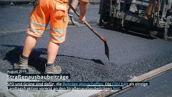 Bagger und Schweres Gerät bei Straßenbau-Großprojekt 2016 in Leipzig