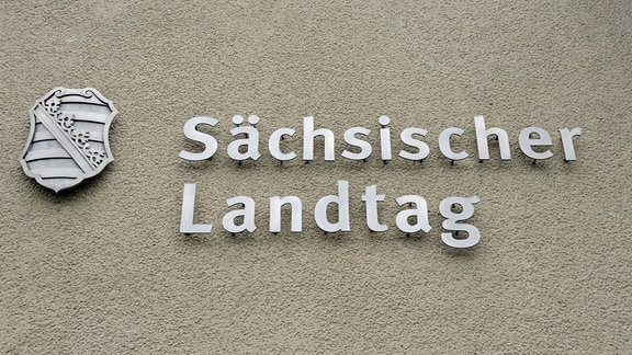 Sächsischer Landtag, Schriftzug