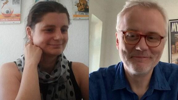 Anne Gaschütz und Christoph Terhechte in einer Videokonferenz