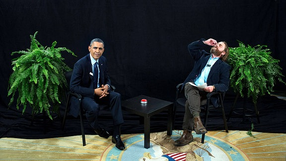 Between two ferns mit Präsident Obama