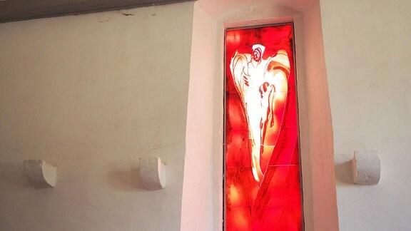 Altarfenster des Gräfenhainer Künstlers Gert Weber.