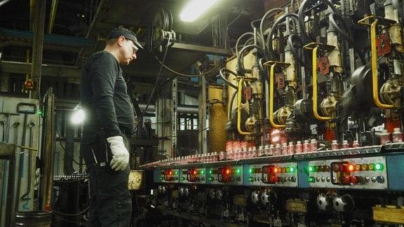 In der Glashütte wird im vollkontinuierlichen 4-Schichtsystem gearbeitet – also auch Weihnachten und Silvester.