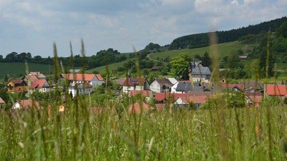 Blick auf Hirschendorf.