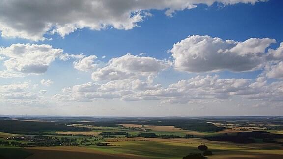 Blick aus der Luft über das Vogtland