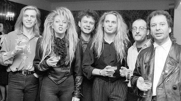 Die Band Silly mit Frontfrau Tamara Danz, 1989