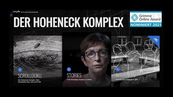 Hoheneck-Komplex – Nominierung zum Grimme-Online-Award