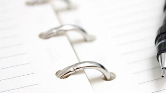 Papier und Stift
