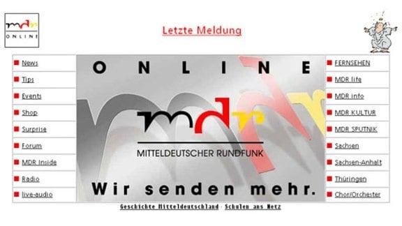 Relaunch MDR.DE Mai 1996
