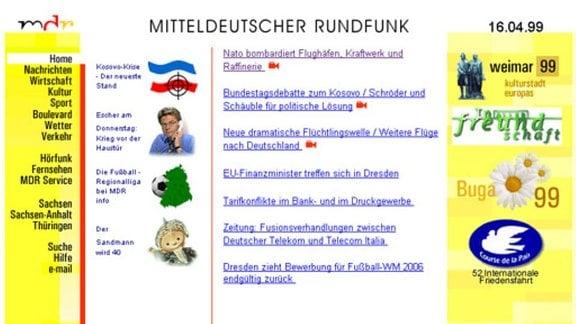 Relaunch MDR.DE April 1998