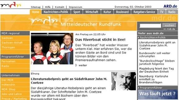 Relaunch MDR.DE Juli 2002